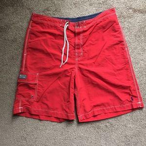 Polo Ralph Lauren Swim Trunks Nylon Red Size XL